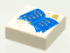 Part No: 3070bpx8  Name: Tile 1 x 1 with Groove with Blue Open Book and Gold Stars Pattern