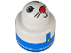 Part No: 31005cx14  Name: Primo Brick, Round Rattle 1 x 1 with Blue Overalls and Animal Face Pattern