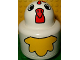 Part No: 31005pb02  Name: Primo Brick, Round Rattle 1 x 1 with Chicken Pattern