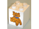 Part No: 31110pb031  Name: Duplo, Brick 2 x 2 x 2 with Teddy Bear Pattern
