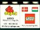 Part No: 31110pb042  Name: Duplo, Brick 2 x 2 x 2 with Lego Logo, Duplo Logo, Danish and Hungarian Flag Pattern-Lego Factory Hungary Promotional (Version without Postal Address)