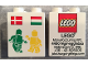 Part No: 31110pb128  Name: Duplo, Brick 2 x 2 x 2 with LEGO Logo, Green and Yellow Minifigures, Danish and Hungarian Flag Pattern - Lego Factory Hungary Promotional