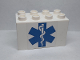 Part No: 31111pb056  Name: Duplo, Brick 2 x 4 x 2 with EMT Star of Life Pattern (Sticker) - Set 9226