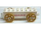 Part No: 31174c03pb01  Name: Duplo Car Base 2 x 8 x 1 1/2 with Large Copper Spoked Wheels with Hearts and Crowns Pattern on Both Sides (Stickers) - Set 4828