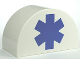 Part No: 31213pb022  Name: Duplo, Brick 2 x 4 x 2 Curved Top with EMT Star of Life Pattern