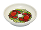 Part No: 31333pb08  Name: Duplo Utensil Dish with with 2 Red Crabs, 4 Lime Slices and Lime Garnish Pattern