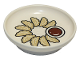 Part No: 31333pb09  Name: Duplo Utensil Dish with Chinese Dumplings and Sauce Pattern