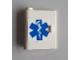 Part No: 3193pb03  Name: Door 1 x 3 x 3 Left with Blue EMT Star of life Pattern (Sticker) - Set 6164
