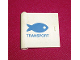 Part No: 3195pb01  Name: Door 1 x 5 x 4 Left with Blue Fish & TRANSPORT Pattern