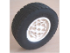 Part No: 32020c01  Name: Wheel 62.4 x 20, with Black Tire 62.4 x 20 (32020 / 32019)