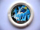 Part No: 32171pb015  Name: Throwbot Disk, Ski / Ice, 4 pips, flying box in ice cave Pattern