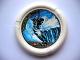 Part No: 32171pb016  Name: Throwbot Disk, Ski / Ice, 5 pips, skiing down to ice spires Pattern