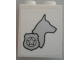 Part No: 3245cpb057R  Name: Brick 1 x 2 x 2 with Inside Stud Holder with Dog Head Facing Right and Silver Police Badge Pattern Model Right Side (Sticker) - Set 60048