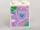 Part No: 3245cpb061  Name: Brick 1 x 2 x 2 with Inside Stud Holder with Lavender Map Heartlake City Pattern (Sticker) - Set 41013