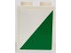 Part No: 3245cpb063L  Name: Brick 1 x 2 x 2 with Inside Stud Holder with White and Green Triangle Pattern Model Left Side (Sticker) - Set 60022