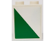 Part No: 3245cpb063R  Name: Brick 1 x 2 x 2 with Inside Stud Holder with White and Green Triangle Pattern Model Right Side (Sticker) - Set 60022