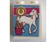 Part No: 3245cpb115  Name: Brick 1 x 2 x 2 with Inside Stud Holder with Horseshoe,  Horse and Grain in Bucket Pattern (Sticker) - Set 41126