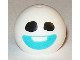 Part No: 32474pb003  Name: Technic, Ball Joint with Black Eyes and Medium Azure Smile Pattern (Snowgie Head)