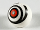 Part No: 32474pb016  Name: Technic, Ball Joint with Red Eye in Black Rings Pattern