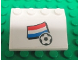 Part No: 3297pb024  Name: Slope 33 3 x 4 with Flag of Netherlands and Soccer Ball on White Background Pattern (Sticker) - Set 3405