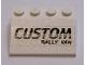 Part No: 3297pb038  Name: Slope 33 3 x 4 with Black 'CUSTOM RALLY VAN' Pattern (Sticker) - Set 5550