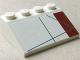 Part No: 3297pb039L  Name: Slope 33 3 x 4 with Dark Red Rectangle Pattern Model Left Side (Sticker) - Set 10215