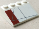 Part No: 3297pb039R  Name: Slope 33 3 x 4 with Dark Red Rectangle Pattern Model Right Side (Sticker) - Set 10215