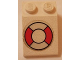 Part No: 3298pb039  Name: Slope 33 3 x 2 with Life Preserver Pattern (Sticker) - Set 314-1