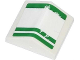 Part No: 3300pb01  Name: Slope 33 2 x 2 Double with 3 Worn Green Lines Pattern (Sticker) - Set 70809