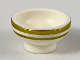 Part No: 34172pb03  Name: Minifigure, Utensil Bowl Asian with Gold Stripes Pattern