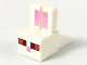 Part No: 35525pb03  Name: Creature Head Pixelated with Rabbit Ears, Pink Auricles, Red and Dark Red Eyes, Pink Nose Pattern (Minecraft Rabbit)