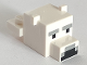Part No: 35528pb01  Name: Plate, Modified 1 x 2 with Cube Polar Bear Head with Pixelated Face Pattern (Minecraft Polar Bear)