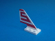 Part No: 3587pb04  Name: Tail Old with Red S (Sterling) Pattern