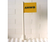 Part No: 3596pb20  Name: Flag on Flagpole, Straight with Yellow ANWB Pattern (Sticker) - Set 1590-2