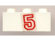 Part No: 3622pb010  Name: Brick 1 x 3 with Red Number 5 Pattern (Sticker) - Set 6440