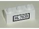 Part No: 3622pb027  Name: Brick 1 x 3 with 'HL 7639' Pattern (Sticker) - Set 7639