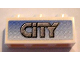 Part No: 3622pb032  Name: Brick 1 x 3 with Gray 'CITY' On Blue Background Pattern (Sticker) - Set 8404