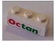 Part No: 3622pb039  Name: Brick 1 x 3 with Octan Pattern (Sticker) - Set 6543