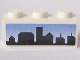 Part No: 3622pb045  Name: Brick 1 x 3 with Skyline on Blue Background Pattern (Sticker) - Set 8404