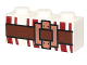Part No: 3622pb072  Name: Brick 1 x 3 with Dark Red Lines and Brown Belt with Buckle Pattern
