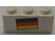 Part No: 3622pb113  Name: Brick 1 x 3 with German Flag Pattern (Sticker) - Set 3310
