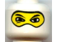 Part No: 3626bpb0184  Name: Minifigure, Head Balaclava with Eyes Hole and Nose Hump, Large Eye Whites and Squint Pattern - Blocked Open Stud