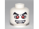 Part No: 3626bpb0459  Name: Minifigure, Head Alien Fangs, Red Eyes with White Pupils Pattern (Vampire) - Blocked Open Stud