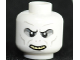 Part No: 3626bpb0486  Name: Minifigure, Head Alien with HP Voldemort with Teeth and Nostrils Pattern - Blocked Open Stud