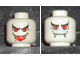 Part No: 3626bpx110  Name: Minifigure, Head Dual Sided Alien with Red Eyes, Fangs, Mouth Open / Mouth Closed Pattern (Vampire) - Blocked Open Stud