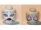 Part No: 3626cpb0315  Name: Minifigure, Head Alien with Blue Eyes and Red Lips Pattern (SW Asajj Ventress) - Hollow Stud