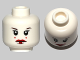 Part No: 3626cpb0781  Name: Minifigure, Head Female with Red Lips, Eyelashes, 2 Red Dots on Cheeks Pattern (SW Queen Amidala) - Hollow Stud