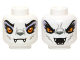 Part No: 3626cpb0973  Name: Minifigure, Head Dual Sided Alien Chima Wolf with Yellow Eyes and Lavender Eye Shadow, Closed Mouth / Open Mouth Pattern (Windra) - Hollow Stud
