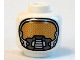 Part No: 3626cpb1271  Name: Minifigure, Head Space Mask with Gold Face Port Pattern (Space Batman) - Hollow Stud