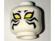 Part No: 3626cpb1659  Name: Minifigure, Head Alien Large Yellow Eyes and Black Whiskers Pattern - Hollow Stud